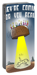 Cake Spaceship Portable Battery Charger
