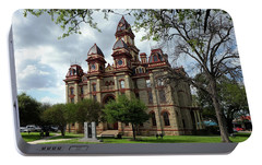 Portable Battery Charger featuring the photograph Caldwell County Courthouse by Ricardo J Ruiz de Porras