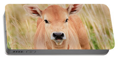 Calf In The High Grass Portable Battery Charger