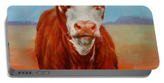 Calf Stare Portable Battery Charger by Margaret Stockdale