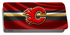 Calgary Flames - 3d Badge Over Flag Portable Battery Charger