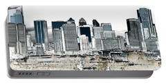 Portable Battery Charger featuring the digital art Calgary Skyline 1 by Stuart Turnbull