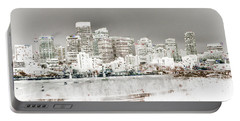 Portable Battery Charger featuring the digital art Calgary Skyline 3 by Stuart Turnbull