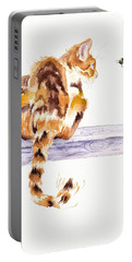 Calico Cat Bee Watchful Portable Battery Charger