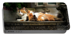 Calico Cat Portable Battery Charger by Craig J Satterlee
