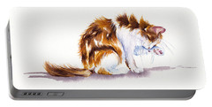 Calico Cat Washing Portable Battery Charger