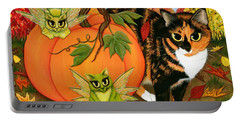 Calico's Mystical Pumpkin Portable Battery Charger
