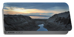 California Beach Stream At Sunset - Alt View Portable Battery Charger