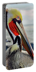California Brown Pelican Portable Battery Charger by Michael Cinnamond