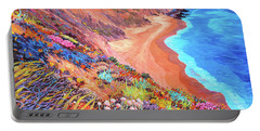 California Coast Wildflowers Portable Battery Charger