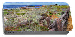 California Coastline Portable Battery Charger by Gina Savage