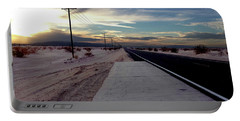 California Desert Highway Portable Battery Charger by Christopher Woods