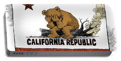 California Fire Bear Grieves Portable Battery Charger