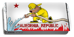 California Firefighter Flag Portable Battery Charger
