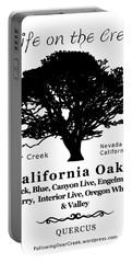 California Oak Trees - Black Text Portable Battery Charger