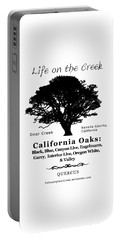 California Oak Trees - Black Text Portable Battery Charger
