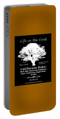 California Oak Trees - White Text Portable Battery Charger