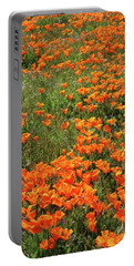 Portable Battery Charger featuring the mixed media California Poppies- Art By Linda Woods by Linda Woods