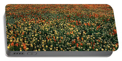 Portable Battery Charger featuring the photograph California Poppies At Dawn Lancaster California by Dave Welling