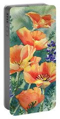 California Poppies In Bloom Portable Battery Charger