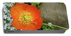 California Poppy Rock Garden Portable Battery Charger by Shirley Heyn