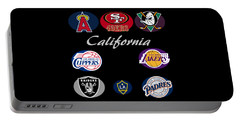 California Professional Sport Teams Collage  Portable Battery Charger
