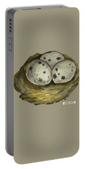 California Quail Eggs In Nest Portable Battery Charger