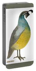 California Quail Posing Portable Battery Charger