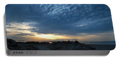 California Rocky Beach Sunset  Portable Battery Charger
