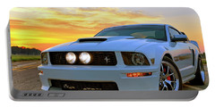 Portable Battery Charger featuring the photograph California Special Sunrise - Mustang - American Muscle Car by Jason Politte