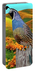 California State Bird And Flower Portable Battery Charger