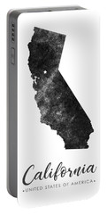 California State Map Art - Grunge Silhouette Portable Battery Charger