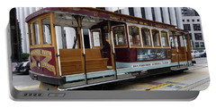 California Street Cable Car Portable Battery Charger by Steven Spak