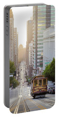California Street Sunrise Portable Battery Charger by JR Photography