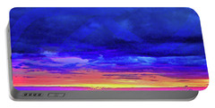 Portable Battery Charger featuring the painting California Sunrise by Joan Reese