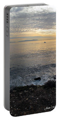 Portable Battery Charger featuring the photograph California Sunset by Joan  Minchak