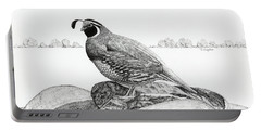 California Valley Quail Portable Battery Charger