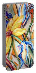 Portable Battery Charger featuring the painting California Wildflowers Series I by Lil Taylor