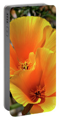 Portable Battery Charger featuring the photograph Californian Poppy by Baggieoldboy
