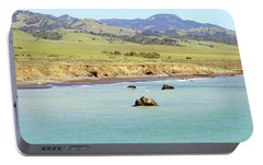 Portable Battery Charger featuring the photograph California's Central Coast by Art Block Collections