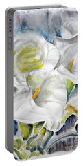 Portable Battery Charger featuring the painting Calla by Jasna Dragun