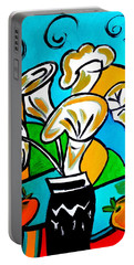 Calla Lilies Fiesta Portable Battery Charger