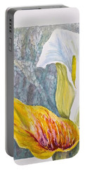 Calla Lily Portable Battery Charger by Carolyn Rosenberger