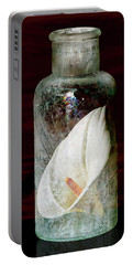 Portable Battery Charger featuring the photograph Calla Lily In A Bottle by Phyllis Denton