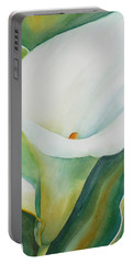 Calla Lily Portable Battery Charger by Ruth Kamenev