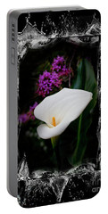 Portable Battery Charger featuring the photograph Calla Lily Splash by Al Bourassa