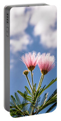Calliandra Flowers Portable Battery Charger by Lana Enderle