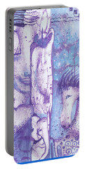 Portable Battery Charger featuring the mixed media Calling Upon The Spirit Animals by Prerna Poojara