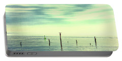 Portable Battery Charger featuring the photograph Calm Bayshore Morning N0 1 by Gary Slawsky