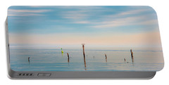 Portable Battery Charger featuring the photograph Calm Bayshore Morning N0 3 by Gary Slawsky
